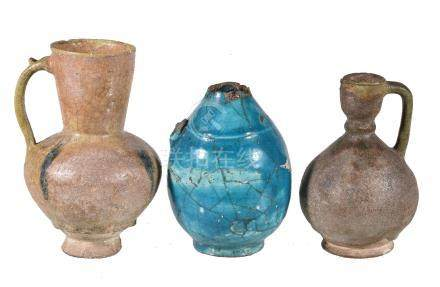 Five Persian pottery vessels
