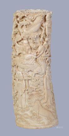 Y A Chinese Ivory Tusk Vase