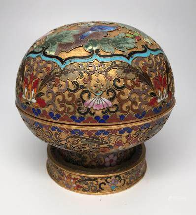 A Cloisonne Bronze Box