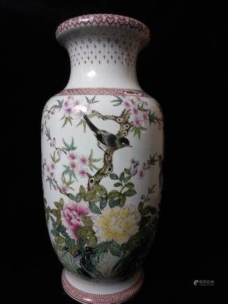 Chinese Republic, A Famille Rose Vase