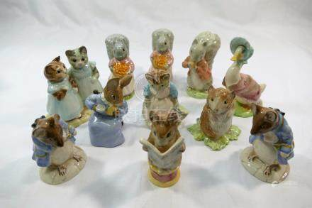 A collection of 11 Royal Albert 'The World of Beatrix Potter' figures, comprised of 'Cottontail',
