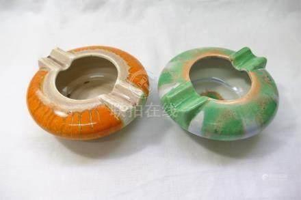 Two Shelley Harmony ashtrays,