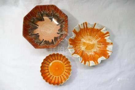 Three Shelley Harmony bowls, 16cm diameter, 15.