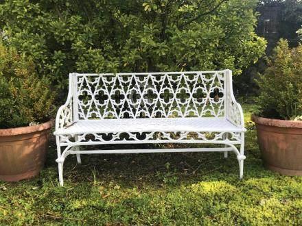 GOTHIC CAST IRON GARDEN SEAT