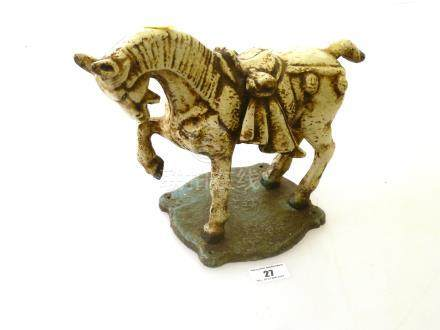 METAL INDIAN HORSE STATUE H: 8.5\