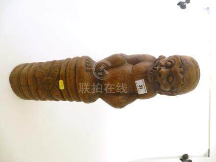 HAND CARVED DEMON STATUE APPROX 20\