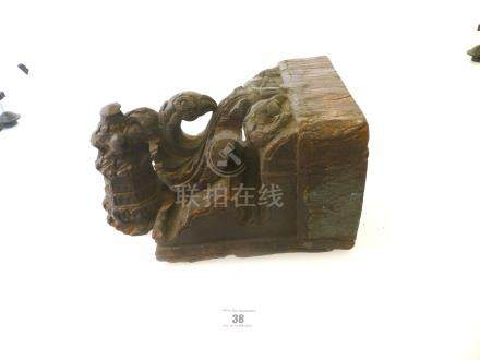 HANDCARVED WOODEN WALL MOUNTED CANDLE HOLDER (INDIA) APPROX 11.5\ X 7\
