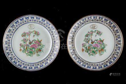 A private collection of Oriental ceramics & works of art, mostly formed in the 1980's - a pair of