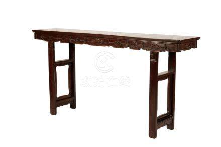 CARVED HARDWOOD ALTAR TABLE, QING DYNASTY, 19TH CENTURY