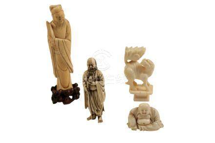 CARVED IVORY FIGURE OF AN IMMORTAL, MING DYNASTY
