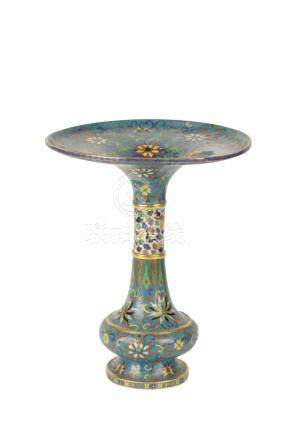 CLOISONNE FLARE FORM VASE, QING DYNASTY, 19TH CENTURY