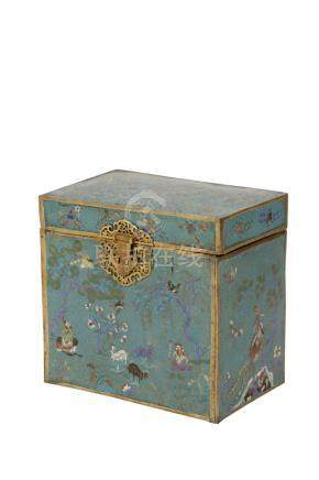 LARGE CLOISONNE BOX, QING DYNASTY, 18TH / 19TH CENTURY