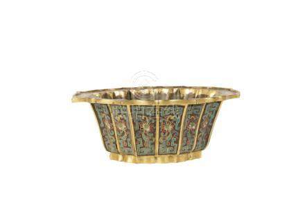 CLOISONNE BOWL, QIANLONG PERIOD, 18TH CENTURY