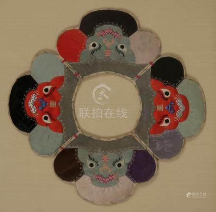 EMBROIDERED BABY COLLAR, LATE QING DYNASTY