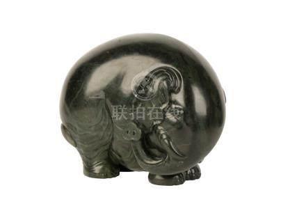 SPINACH-GREEN JADE ELEPHANT