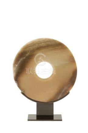 JADE DISC, NEOLITHIC STYLE OF THE LIANGZHU CULTURE