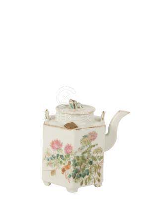 FAMILLE ROSE TEAPOT, REPUBLIC PERIOD