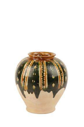 SANCAI-GLAZED JAR, TANG DYNASTY