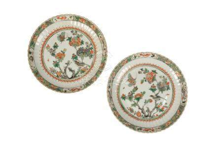 PAIR OF FAMILLE VERTE DISHES, QING DYNASTY 18TH / 19TH CENTURY