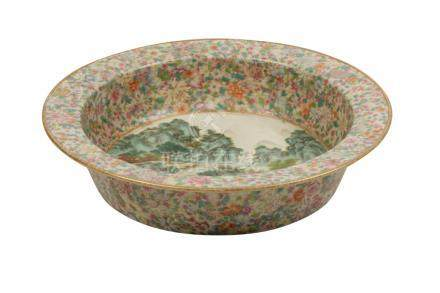 LARGE FAMILLE ROSE BASIN, REPUBLIC PERIOD