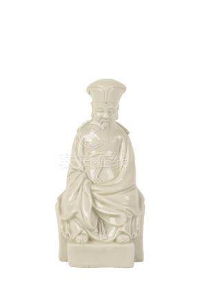 BLANC DE CHINE FIGURE OF A SAGE, 17TH CENTURY