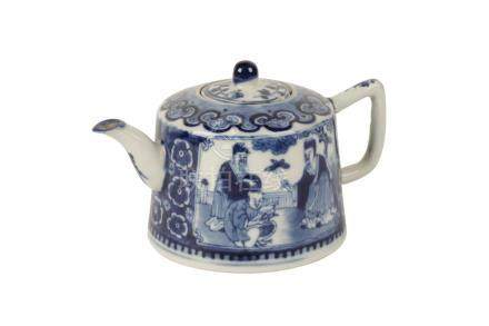 BLUE AND WHITE TEAPOT, QING DYNASTY, 19TH CENTURY