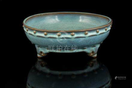 RARE IMPERIAL JUN 'NUMBER ONE' TRIPOD NARCISSUS BOWL