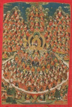 THANGKA OF MAHASANGHA, TIBET, 18TH / 19TH CENTURY