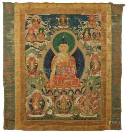 THANGKA OF AKSHOBHYA, TIBET, 17TH / 18TH CENTURY