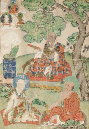 THANGKA DEPICTING THE ARHAT PANTHAKA, QING DYNASTY
