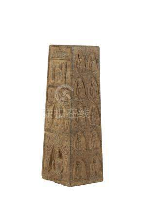 RARE STONE BUDDHIST STELE, TANG DYNASTY