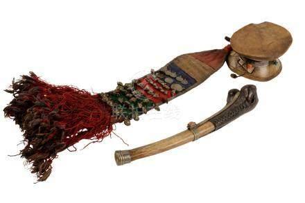BONE TRUMPET, TIBET, 19TH CENTURY