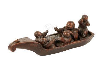 CARVED BOXWOOD OKIMONO, MEIJI PERIOD (1868-1912)