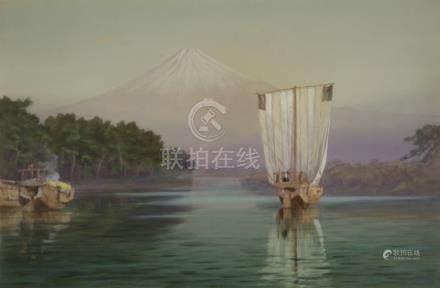 MANJIRO TERAUCHI, (JAPANESE, 1890-1964), six unframed works