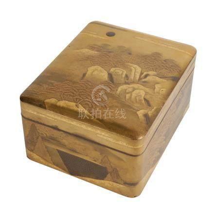 FINE GILT LACQUER BOX, MEIJI PERIOD (1868-1912)