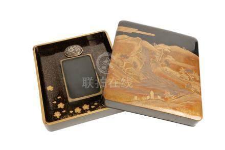 FINE LACQUER WRITING BOX, MEIJI PERIOD (1868-1912)