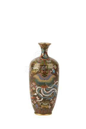 FINE SMALL CLOISONNE VASE, MEIJI PERIOD (1868-1912)