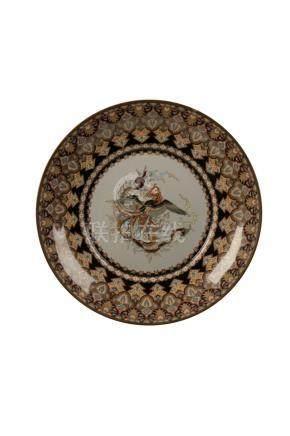 FINE CLOISONNE DISH, MEIJI PERIOD (1868-1912)