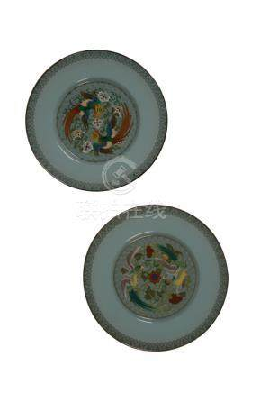 FINE PAIR OF CLOISONNE DISHES BY ANDO, MEIJI PERIOD (1868-1912)