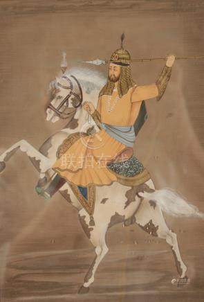 MUGHAL WARRIOR ON HORSE BACK, INDIA, 18TH / 19TH CENTURY