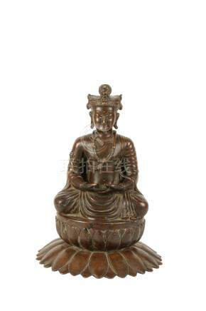 BRONZE FIGURE OF A BUDDHA, SWAT VALLEY, 13TH CENTURY OR EARLIER