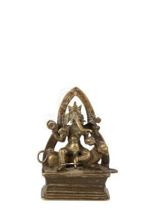 BRONZE FIGURE OF GANESH, KASHMIR, 16TH CENTURY