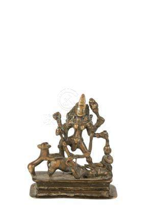 BRONZE FIGURE OF DURGA, KASHMIR, 16TH CENTURY