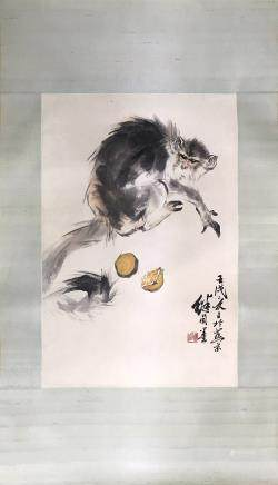 "A LIU JI YOU ""MONKEY"" PAINTING"