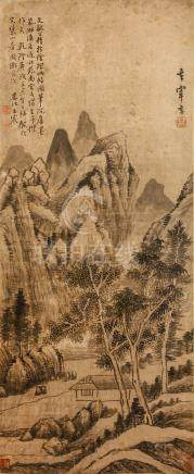 DONG QICHANG    (follower of, 1555 – 1636) WANG CHEN Landscape              ink on paper, hanging
