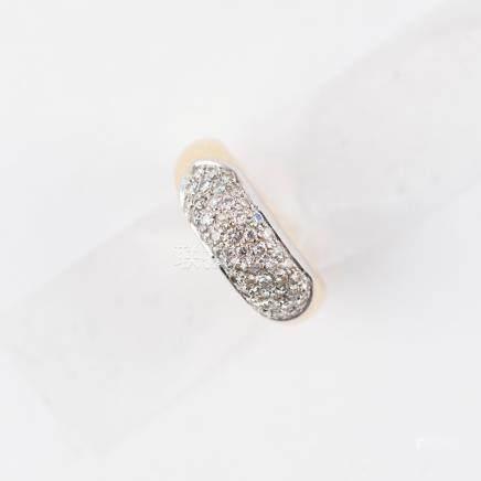 Bague bandeau pavée de diamants
