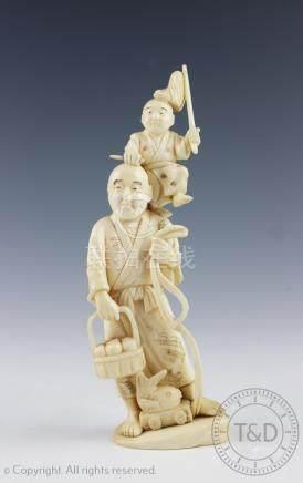 A Japanese okimono, Meiji period,