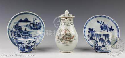A Chinese porcelain European export sparrow bead jug, late 18th century,