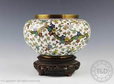 A Japanese cloisonne vase, Meiji period,