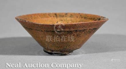 Chinese Black Streaked Russet Glazed \Temmoku\ Stoneware Bowl, probably Song Dynasty (960-1279),